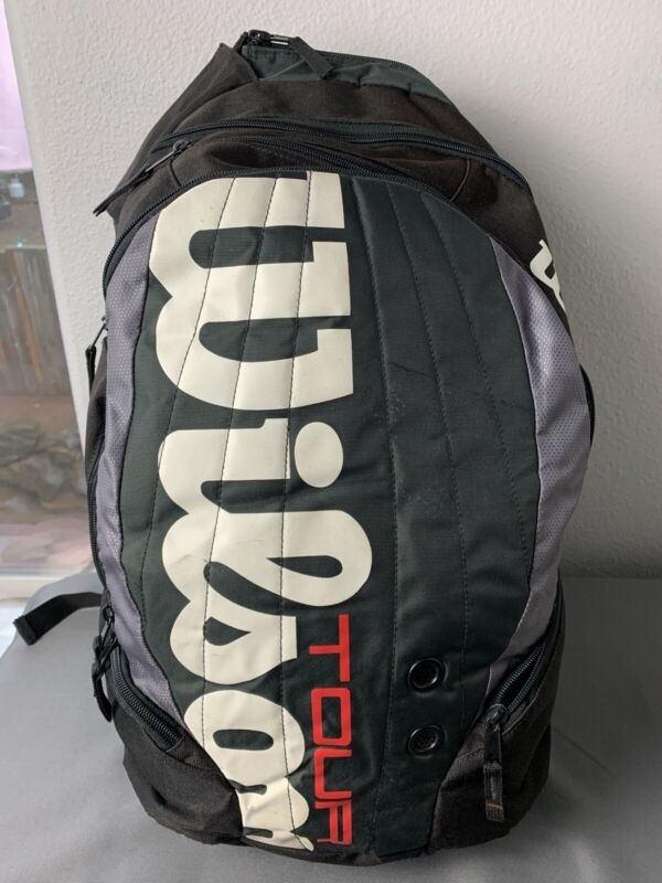 WILSON TOUR BLACK PADDED LARGE BACKPACK TENNIS RACQUET BAG