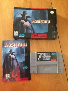 EXTREMELY RARE and COMPLETE SNES Nosferatu game