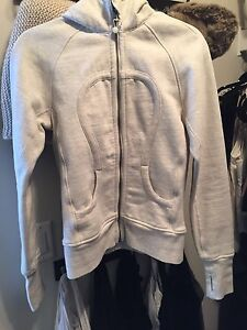 Lululemon Cream Scuba hoodie size 8