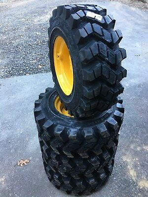 4 Hd Camso Sks753 12-16.5 Skid Steer Tireswheelsrim For New Holland - 12x16.5