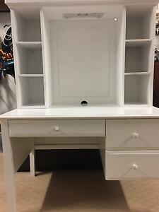 Harvey Norman White Desk and Hutch Gymea Sutherland Area Preview