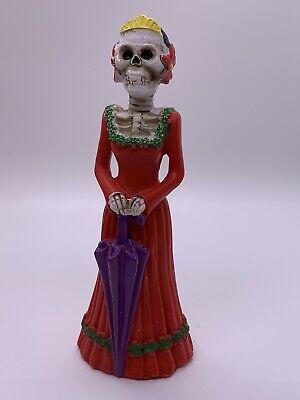 Day Of The Dead - Dia De Los Muertos - Calavera Sugar Skull Red Lady Figure