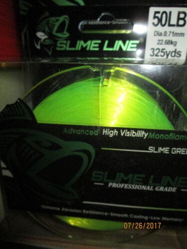 NEW Catch The Fever SLIME LINE  50# 325 yd Monofilament Fishing Line SLIME GREEN
