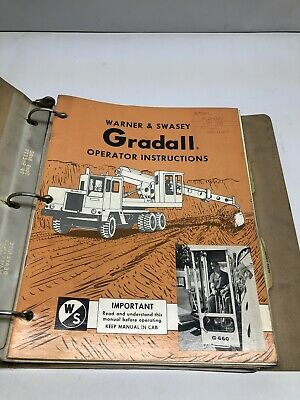 Gradall M-2460 And G-600 Carrier Operator Instructions Service Manual
