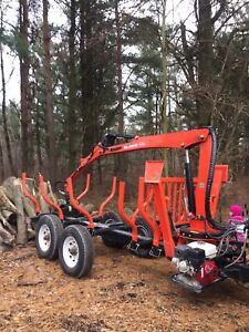2016 wallenstein log grapple trailer