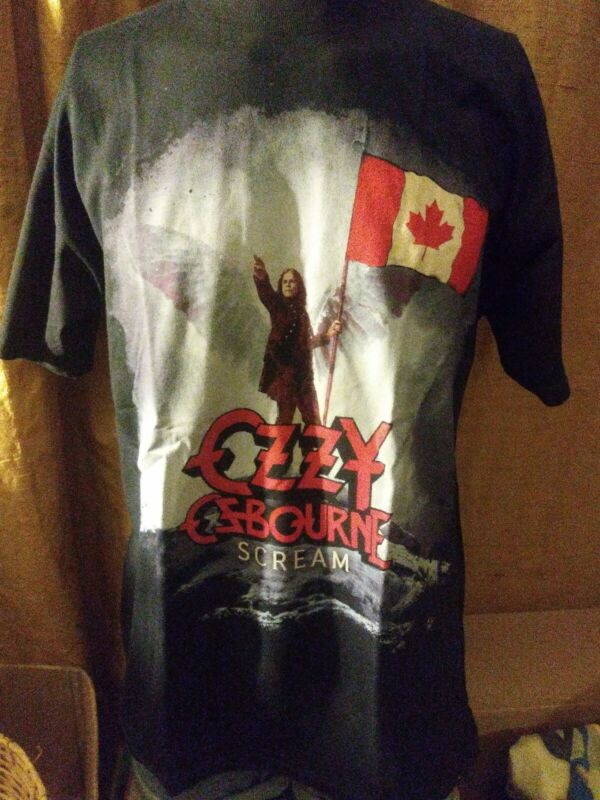 OZZY OSBOURNE SCREAM CANADA TOUR 2010 SHIRT SIZE LARGE SUPER RARE NEW OLD STOCK