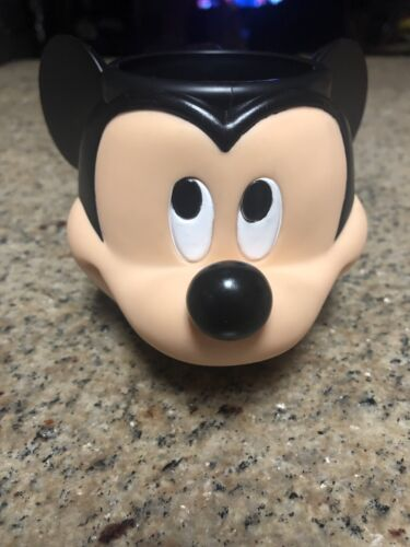 Vtg Disney Applause Mickey Mouse 3D Plastic Figural Kids Cup