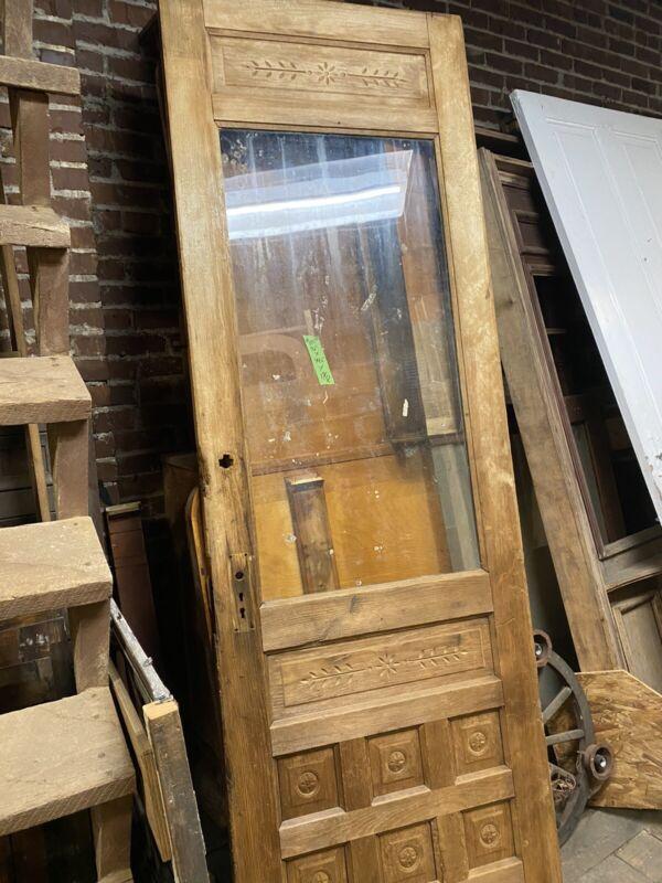 Vintage Victorian Door Antique Pine Entry Door