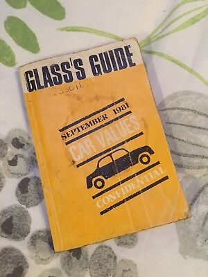 Glass's Guide Car Value September 1981 Classic Car Display / Automobilia
