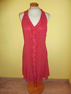 Kleid Zara polka dots rot mit weißen Punkten Größe 42 neu ()