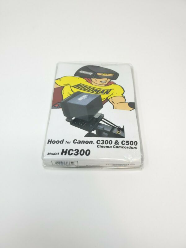 Hoodman HC300 LCD Hood for Canon C300 & C500 EOS Video Camera Viewfinders - NEW