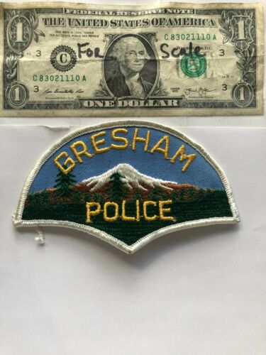 Rare Gresham Oregon Police Patch un-sewn great condition