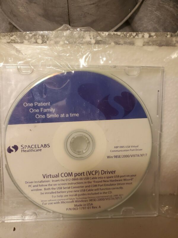 Spacelabs Healthcare EEG EEG  Software DISK virtual com port driver