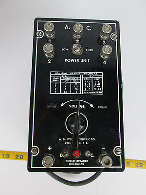 Welch Scientific Adjustable Power Supply 2606k Laboratory Equip Science Fair T