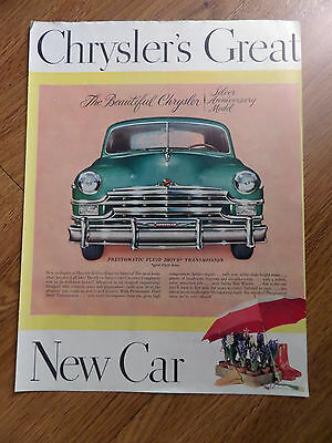 1949 Chrysler Ad The Silver Anniversary Model