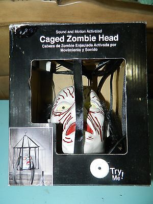 Motion Activated Halloween Sounds (Zombie Head Caged Sound and Motion Activated Head)