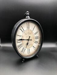 Vintage Style Standing Clock Cafe De La Tour Paris