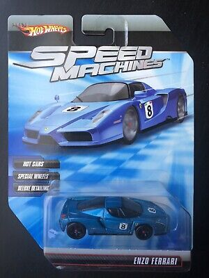 Hot Wheels Speed Machines Enzo Ferrari Blue RARE 2009 VHTF Collectible
