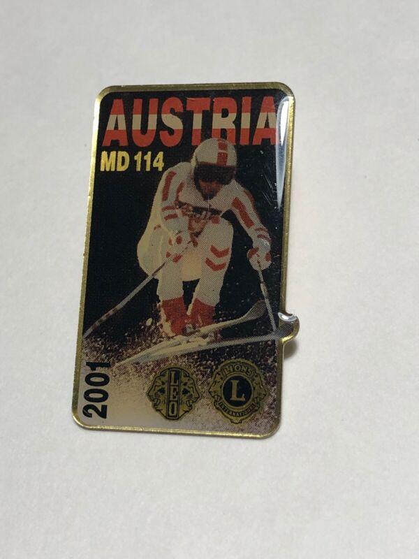 2001 Austria MD 111 Skier Lions Club Pin