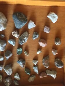 Rocks (mixed) with some quartz and other