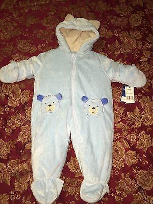 Baby Boy Carter's Light Blue Animal Bear Thick Pram 3-6 mos NWT NEW