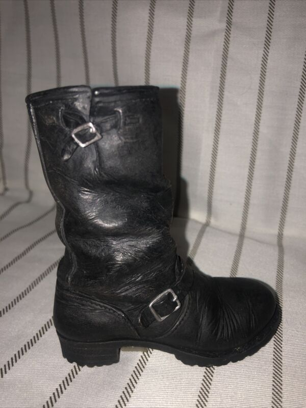 """Just The Right Shoe By Raine """"Motorcycle Boot"""" #25504 - Miniature Retired - 1999"""