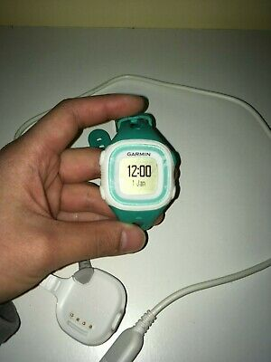 Garmin Forerunner 15 GPS Fitness Running Watch w/ Charging Cable (Teal + White)