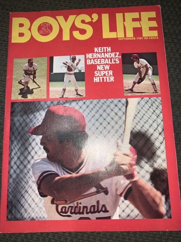 September 1981  Boys Life Magazine Keith Hernandez Baseballs New Super Hitter