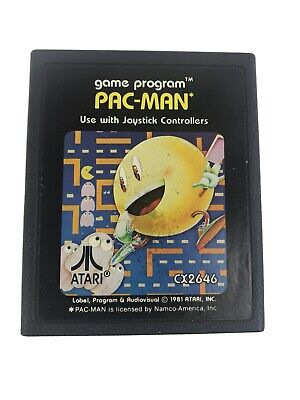Pac-Man for Atari 2600. Cleaned and tested - game cartridge only. CX2646