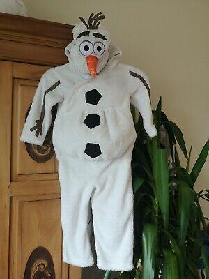 Olaf Disney Kids Frozen Halloween Dress Up Costyme 2-3 Years