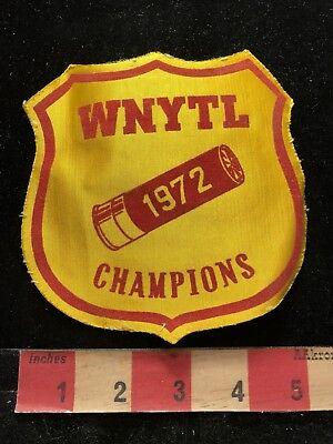 Vtg Kinda Big & Thin WNYTL CHAMPIONS 1972 Patch Gun Firearm / Ammo Related 83E1