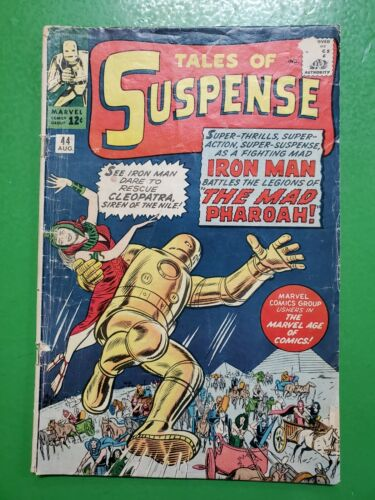 TALES OF SUSPENSE #44 Early IRON MAN! Jack Kirby Stan Lee 1963 Marvel GD