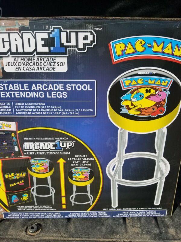 Arcade1UP (Pac-Man) Adjustable Stool w/Chrome Legs - PACMAN - RETRO - NEW IN BOX