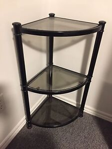 Corner Glass Shelf Unit