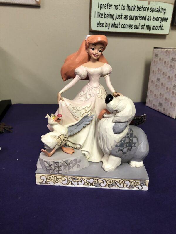 """Ariel & Max Disney Tradition """"Spirited Siren"""" White Woodland 6008066"""