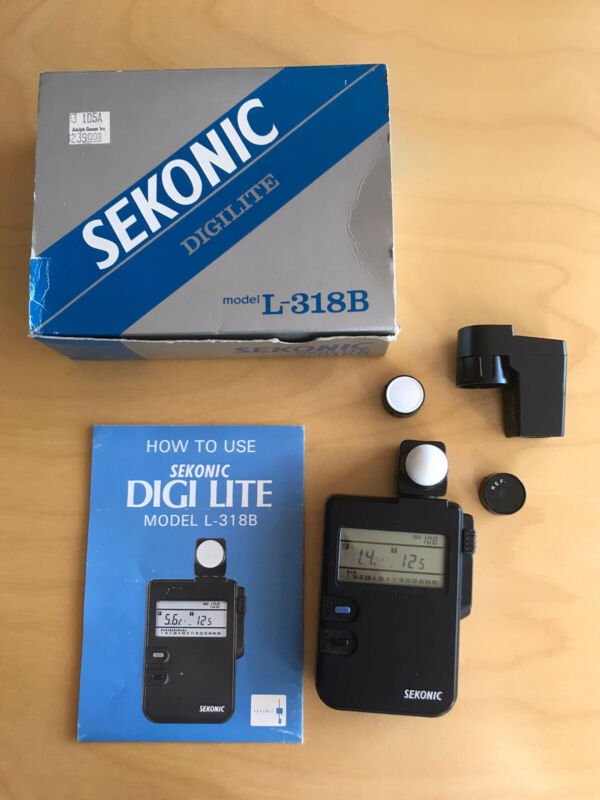 Sekonic L-318B Camera Light Flash Meter LOOK! With L-328VF Spot Meter