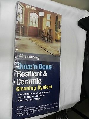 Armstrong Once 'n Done Resilient & Ceramic Floor Cleaner Kit 32 oz Cleaner Mop Resilient Floor Cleaner
