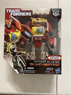 Hasbro Transformers Blaster Voyager Class Fall of Cybertron Generations SEALED