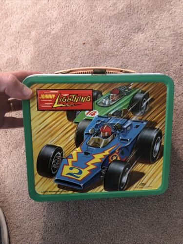 Johnny Lightning Lunch Box With Thermos 1970