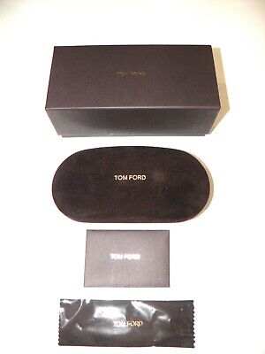 Tom Ford Sunglasses Eyeglasses Brown Medium Set Hard Cell Case Cloth Box (Tom Ford Sunglass Case)