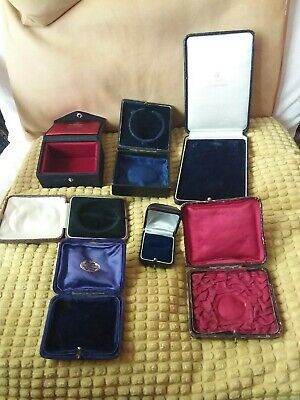 COLLECTION OF VINTAGE JEWELLERY BOXES X 7