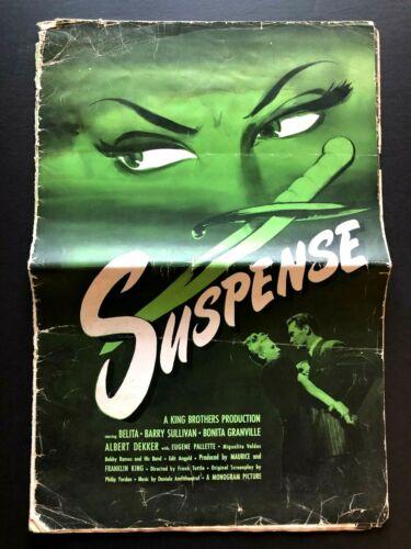 """Suspense Original Movie Pressbook (1946) - 28 Pages - 14"""" x 21"""" VG"""