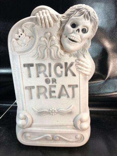 "Vtg Tombstone Blow Mold 28"" Lighted Halloween Gravestone Zombie Graveyard B"
