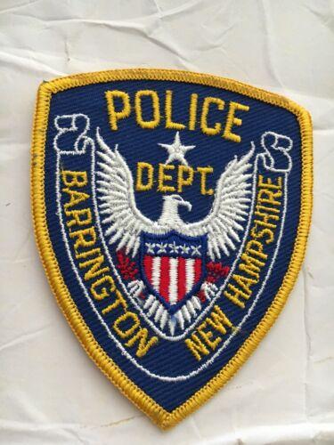 "Barrington  New Hampshire Vintage Police Patch 3"""