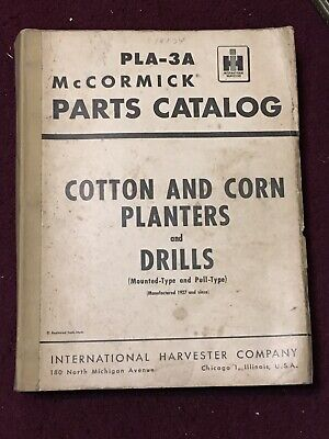 1954 Mccormick International Cotton Corn Planters Drills Parts Catalog Pla-3a