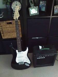 Fender Stratocaster Squier Affinity Electric Guitar + Amp Norman Park Brisbane South East Preview