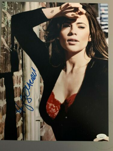 Sexy Hayley Atwell Autographed Signed 11x14 Photo JSA COA