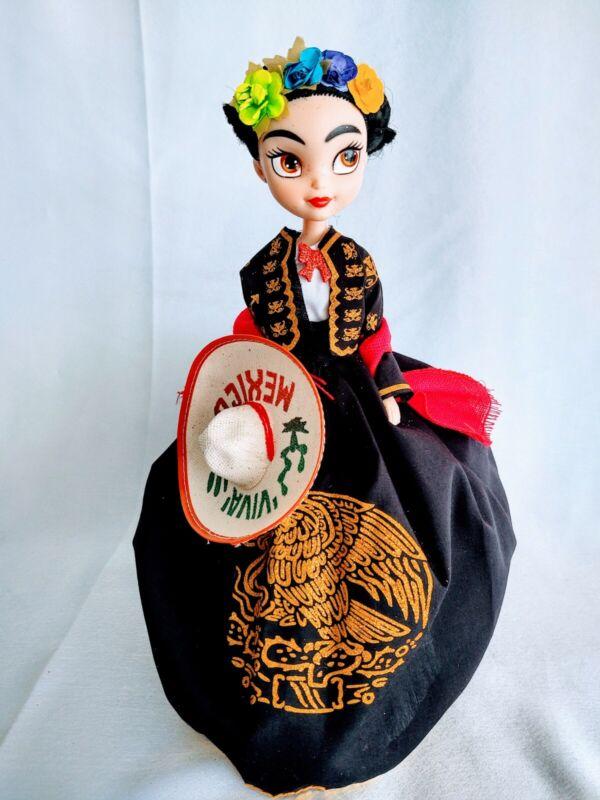 "Frida Kahlo Doll Muneca de Frida Kahlo mariachi mexican doll 13""H charra doll"