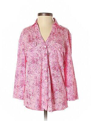 "J. McLaughlin ""Brynn"" Pink Snakeskin 3/4 Sleeve Shirt, Size XS, NWT"
