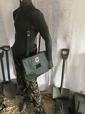 ( new )vintage medic, first aid bag .webbing ,tool bag army miliary hunting mod